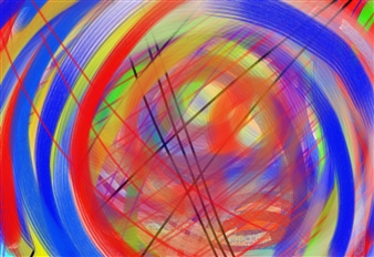 Bill Dixon - Time Digital Hand Made Painting on Canvas, Digital Art
