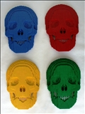 Skulls, Plastic Bricks, Sculpture