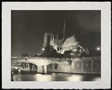 Notre Dame Night (edition 15), Photo Etching, Photography