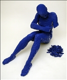 Blue, Plastic Bricks, Sculpture