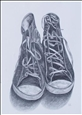 Sneakers&lt;br>Graphite on Paper, Drawings