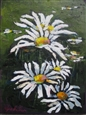 White Daisies<br>Acrylic on Canvas, Paintings