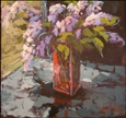 Bouquet de Lilas&lt;br>Acrylic on Canvas, Paintings