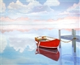 The Red Boat<br>Oil on Canvas, Paintings