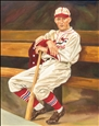 Rogers Hornsby<br>Watercolor on Paper, Paintings