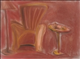 Chair & Table<br>Pastel on Board, Drawings