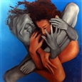 Embrace<br>Acrylic & Oil on Canvas, Paintings