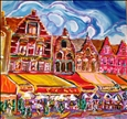 Grote Market, Bruges&lt;br>Acrylic on Canvas, Paintings