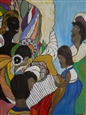 Gullah Affair<br>Acrylic & Oil on Canvas, Paintings