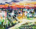 Street<br>Oil on Canvas, Paintings