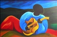 Ti-Jean le guitariste<br>Acrylic on Masonite, Paintings