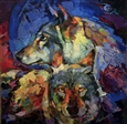 Wolfs<br>Oil on Canvas, Paintings