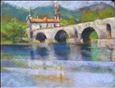 Ponte di Lima, Portugal<br>Pastel on Tinted Paper, Paintings