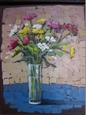 Flowers in a Vase<br>Acrylic on Canvas, Paintings