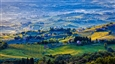 Morning in Tuscany Italy<br>Photographic Print on Dibond, Photography