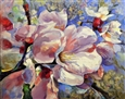 Cherry Blossoms<br>Oil on Canvas, Paintings