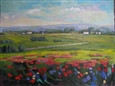 Poppies Fields<br>Acrylic on Canvas, Paintings