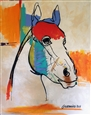 Happy Horse<br>Acrylic & Oil on Canvas, Paintings