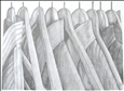 Shirts&lt;br>Graphite on Paper, Drawings