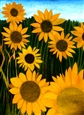 Sunflowers<br>Oil on Canvas, Paintings