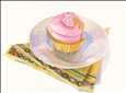 Pink Cupcake&lt;br>Giclee Print, Prints