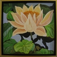 Yellow Lily<br>Oil on Board, Paintings