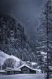 Snowing in Mountains<br>Photographic Print on Aluminum Dibond under Lumasec Resin, Photography