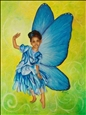 Blue Fairy<br>Oil & Pigment on Canvas, Paintings