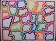 Multicolor Puzzle<br>Acrylic on Board, Paintings