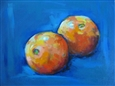 2 Oranges<br>Acrylic on Canvas, Paintings