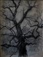 Tree in Winter<br>Acrylic & Ink on Paper, Drawings