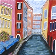 Fiori E Canale Bella<br>Acrylic on Canvas, Paintings