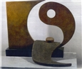 Yin Yang<br>Bronze with Patina, Sculpture