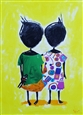 Together<br>Acrylic & Collage on Canvas, Paintings