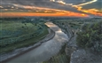 Sunset Over the Little Missouri River<br>Color Digital Photography, Photography