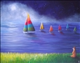 Mother's Midnight Regatta<br>Acrylic on Canvas, Paintings