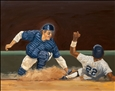 Carlton Fisk<br>Oil on Panel, Paintings