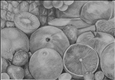 Fruit&lt;br>Graphite on Paper, Drawings