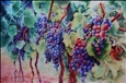 Vineyard<br>Watercolor & Varnish on Panel, Paintings