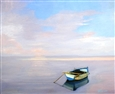 Lone Boat at Sunrise<br>Oil on Canvas, Paintings