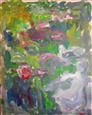 Water Lilies in Monet's Pond, Giverny<br>Acrylic on Canvas, Paintings