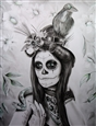 Day Of The Dead<br>Graphite & Colored Pencil on Paper, Drawings