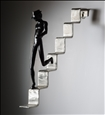 Going Down<br>Stainless Steel & Blackened Steel, Sculpture