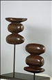 Repetition<br>Patinated Bronze on Polished Steel Base, Sculpture