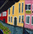 La Gondola<br>Acrylic & Oil on Canvas, Paintings