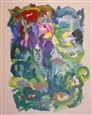 Floral Abstract<br>Acrylic on Canvas, Paintings
