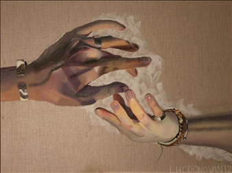 Lucy O'Donovan - Hands I Oil on Canvas, Paintings