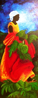Patricia Brintle - Saisons Breadfruit Acrylic on Canvas, Paintings