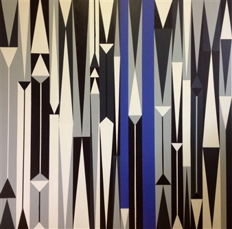 Christine Vella - A Touch of Blue Acrylic on Canvas, Paintings