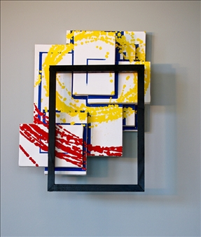 Lawrence R. Armstrong - Metro Acrylic on Layered Canvas & Wood, Paintings